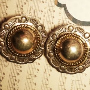 Round Domed Sterling Clip On Earrings Mexico